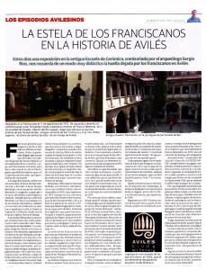 22.franciscanos.LA VOZ DE AVILES 229x300 La estela de los franciscanos en la Historia de Avilés