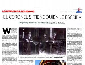 22.biblioteca LA VOZ pagina partida 300x228 El coronel sí tiene quien le escriba