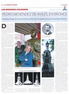 22.estatua.LA VOZ DE AVILES.2 220x300 Pedro Menéndez de Avilés, en bronce