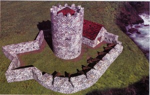 22.SAN JUAN. San Juan castillo de.Virtual general sobre la ria.200205 300x191 El Castillo de San Juan y la invasión inglesa de Avilés