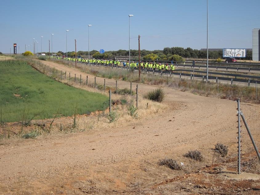 """IMG 5235 copia Día 10. La marcha del carbón completa la mitad de su reto """"por el camino de las cabras"""""""